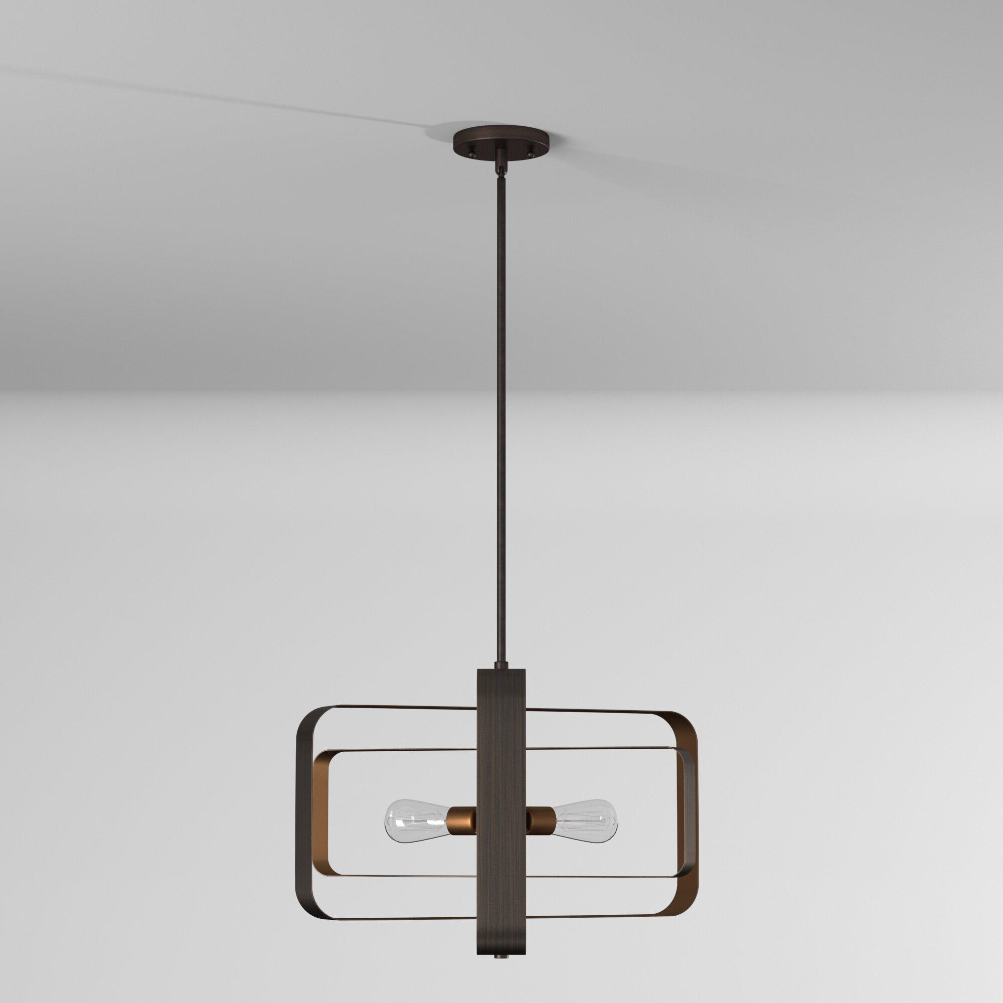 George Oliver Franklin 3 Light Unique Geometric Chandelier Reviews Wayfair