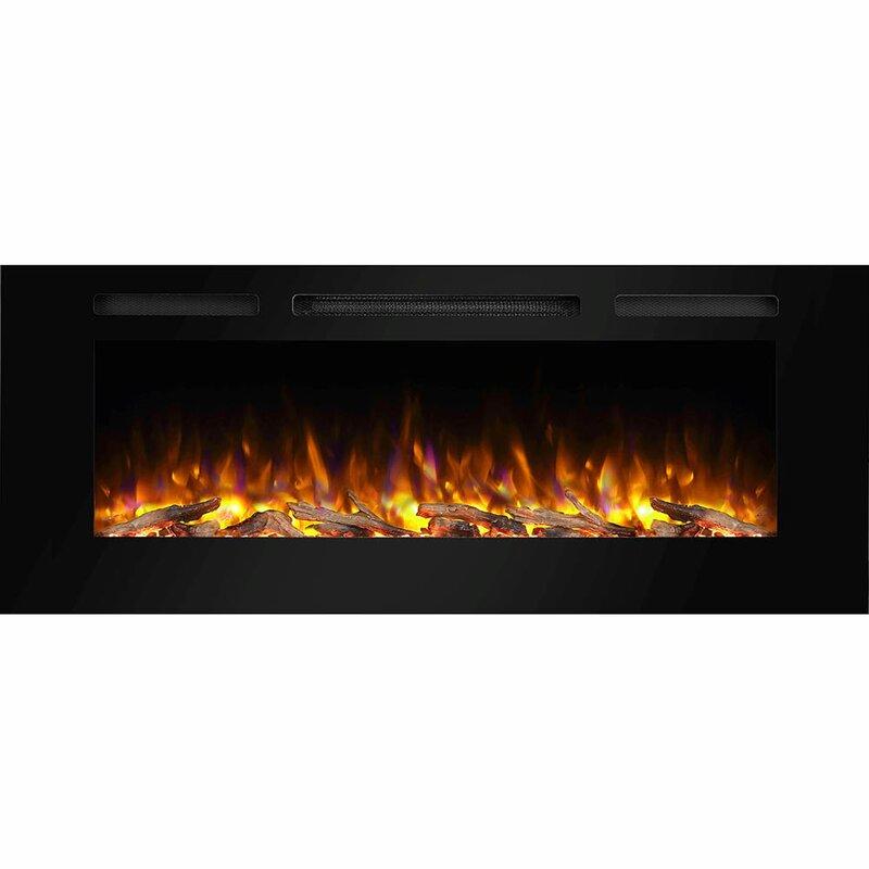 Orren Ellis Iserman Wall Mounted Electric Fireplace Reviews Wayfair