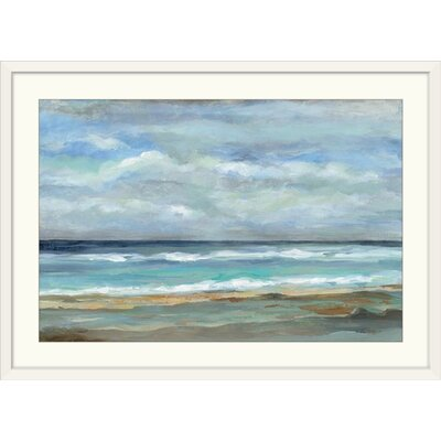 Three Posts 'Seashore' Print Format: White Frame, Size: 32 H x 44 W x 1 D