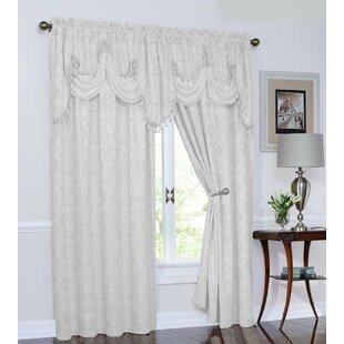 Weintraub Damask Room Darkening Rod Pocket Curtain Panels (Set of 2) by Astoria Grand