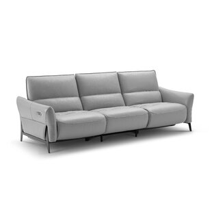 Branchdale Leather Reclining Sofa by Orren Ellis