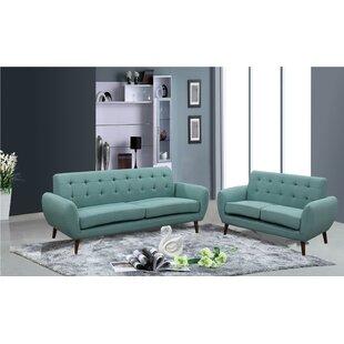 Diara 2 Piece Living Room Set ByZipcode Design