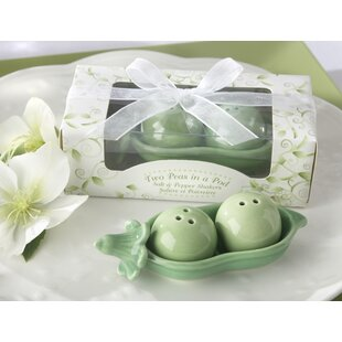Two Peas In A Pod Salt And Pepper Set (Set Of 10) by Le Prise