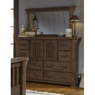 Buckleys 8 Drawer Combo Dresser with Mirror