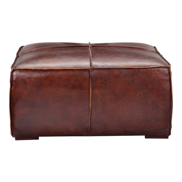 Miraculous Modern Contemporary Cognac Leather Ottoman Allmodern Gmtry Best Dining Table And Chair Ideas Images Gmtryco