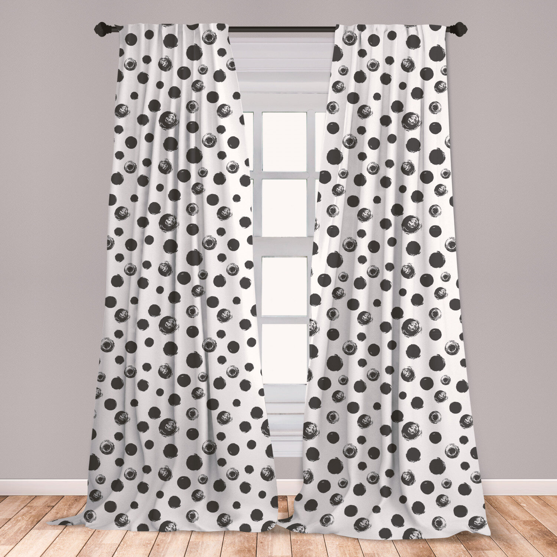 East Urban Home Grunge Room Darkening Rod Pocket Curtain Panels Wayfair