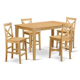 Charlton Home Smyrna 5 Piece Counter Height Pub Table Set