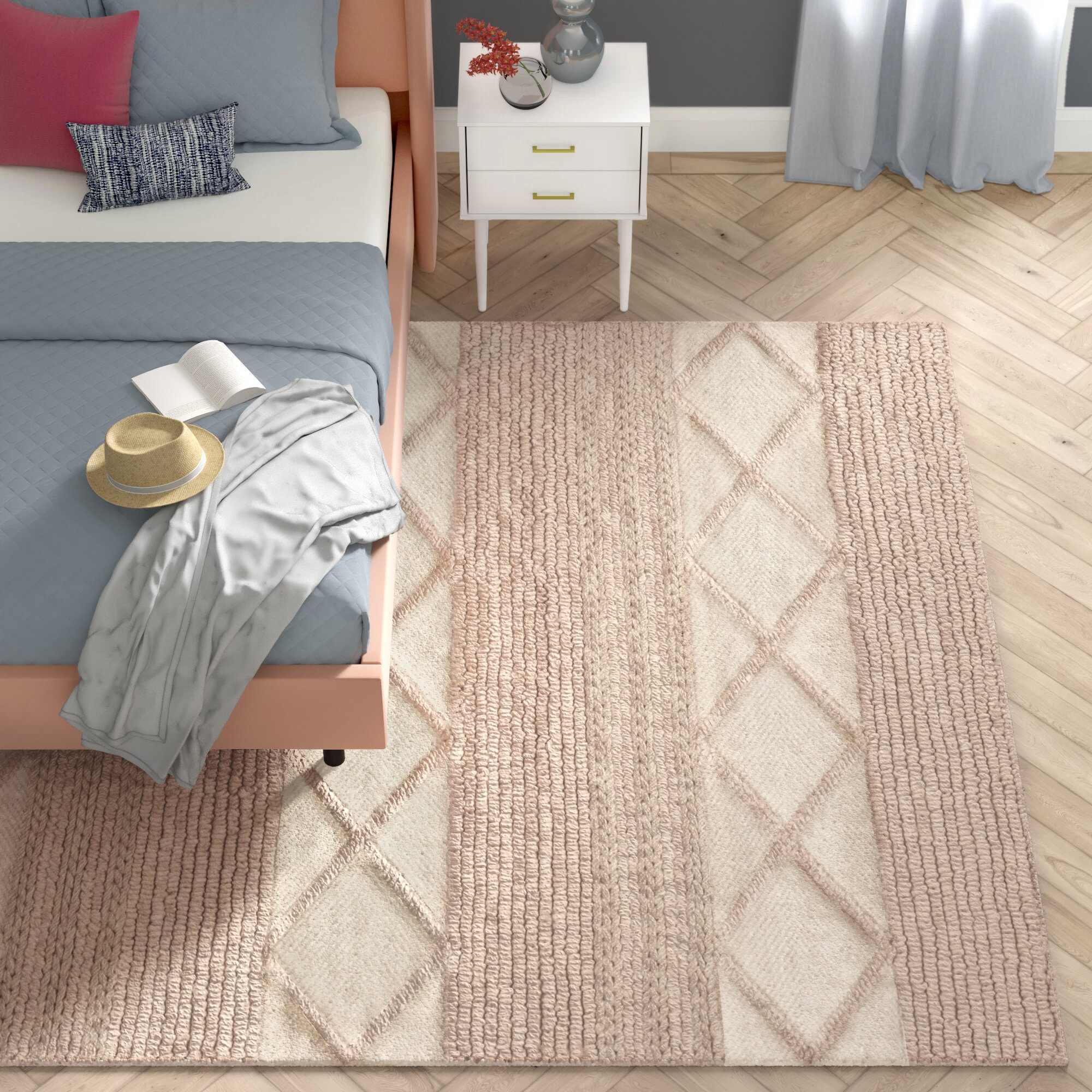 Boughton Geometric Handmade Tufted Wool Cotton Beige Area Rug Reviews Joss Main