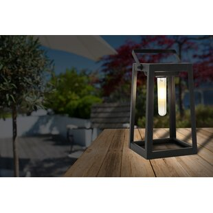 Verville Black Solar Powered LED Outdoor Lantern By Sol 72 Outdoor
