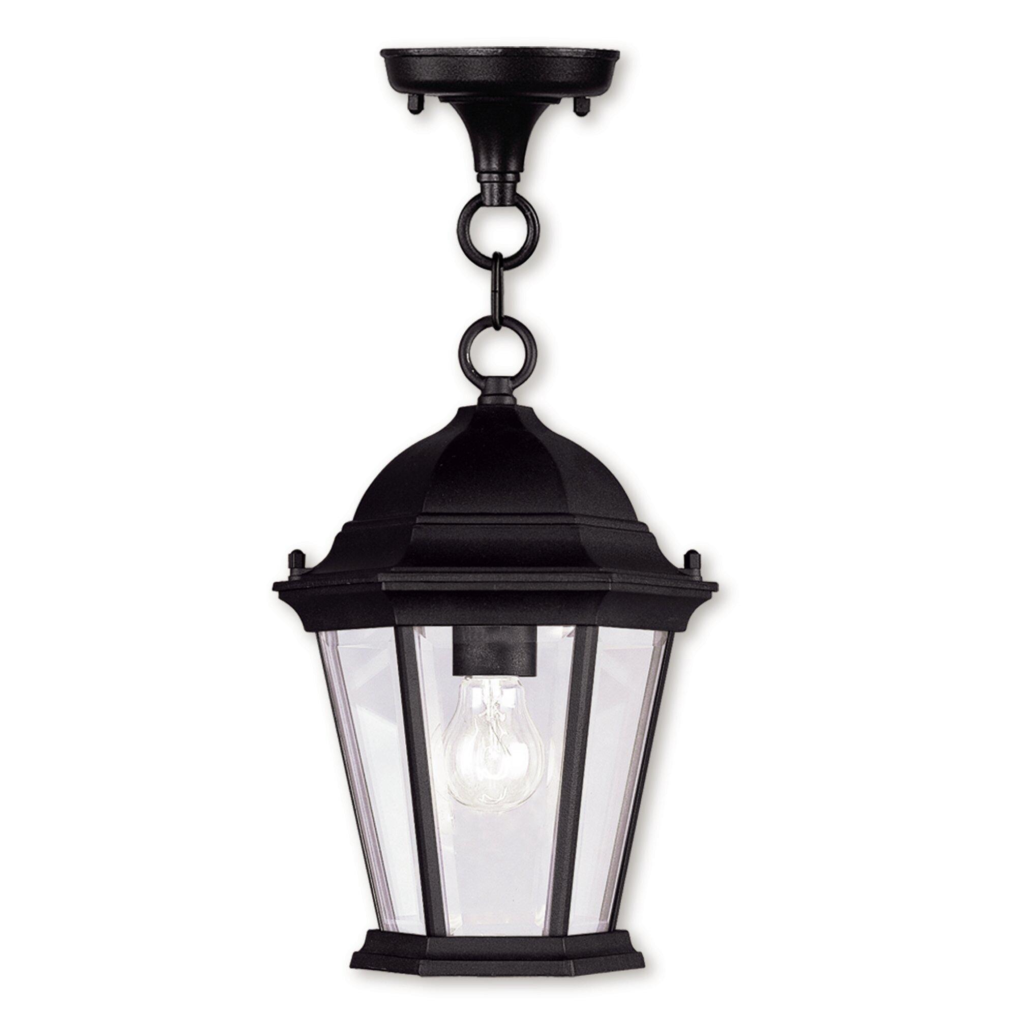 Charlton Home Gibbons 1 Light Outdoor Hanging Lantern Reviews Wayfair