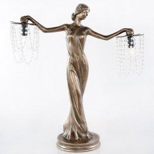 Kuntz Grecian Goddess Beaded 24 Table Lamp