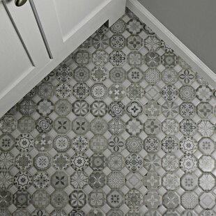 Edredon 12.25  x 12.25  Ceramic Field Tile in Gray & Kitchen Floor Tile Youu0027ll Love   Wayfair