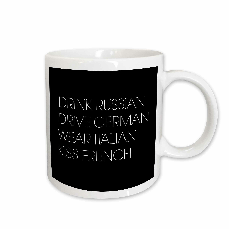 10a6371cd East Urban Home Drink Russian Drive German Wear Italian Kiss French Coffee  Mug | Wayfair