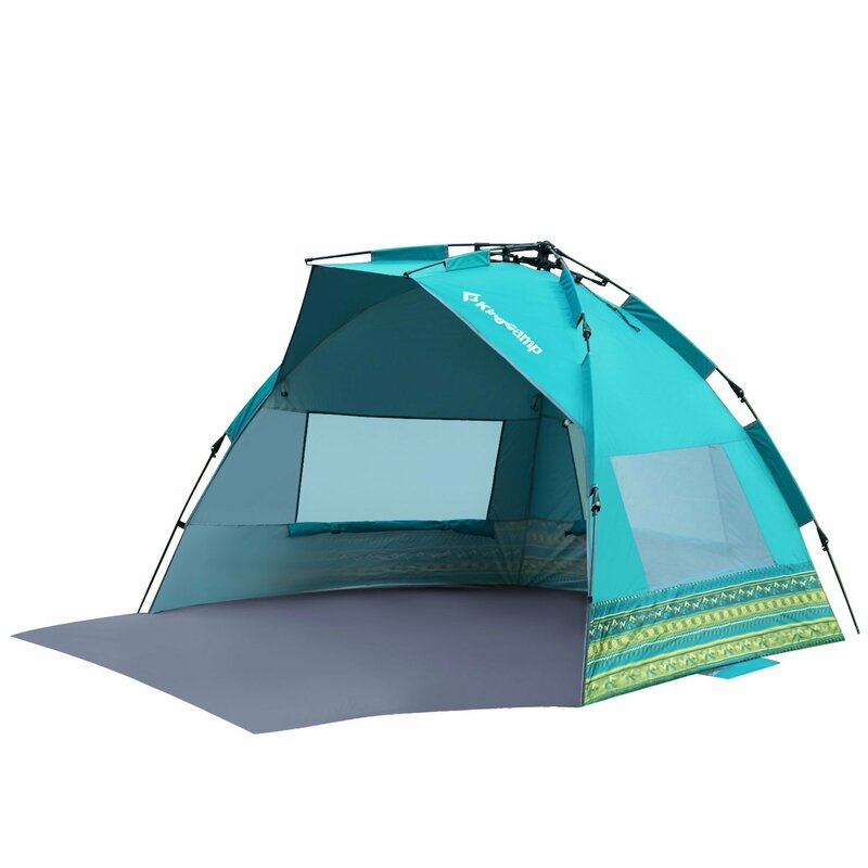 Kingc& Mississipi Fantasy Portable Quick Set Up 4 Person Anti-UV Beach Tent | Wayfair.ca  sc 1 st  Wayfair & Kingcamp Mississipi Fantasy Portable Quick Set Up 4 Person Anti-UV ...