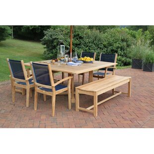 Rosecliff Heights Earls 7 Piece Teak Dining Set