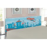 Mermaid Upholstered Panel Headboard by East Urban Home