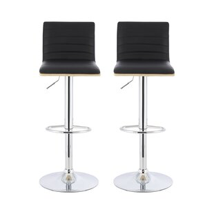 Discount Donoho Height Adjustable Swivel Bar Stool (Set Of 2)