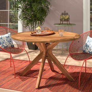 Mistana Kaylie Wood Round Dining Table