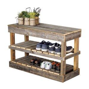 Barnwood 8 Pair Shoe Storage Rack