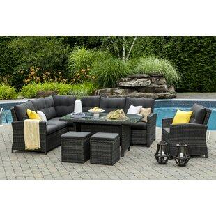 Farner 5 Piece Dining Set with Cushions  sc 1 st  Wayfair & Sectional Patio Dining Set | Wayfair.ca