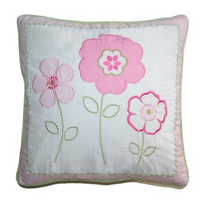 Greta Pastel Floral Decorative Cotton Throw Pillow