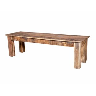 Karam Natural Raw Dining Wood Bench