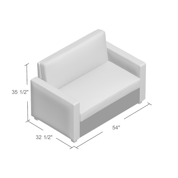 Mercury Row Cabell 54 Square Arm Sofa Bed Reviews Wayfair