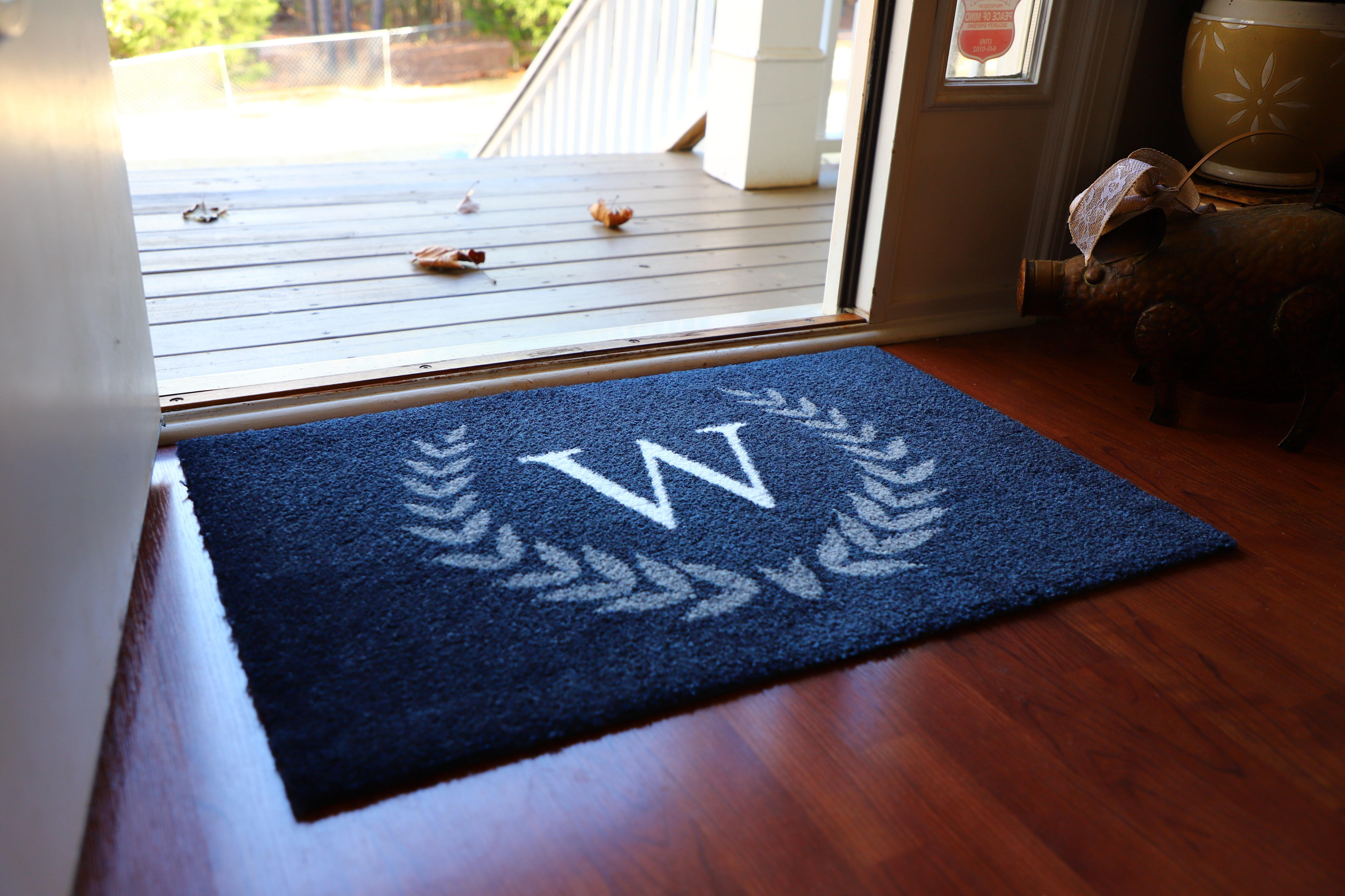 Red Barrel Studio Gharass Star Laurel Run Monogram 36 X 24 Non Slip Outdoor Door Mat Reviews Wayfair