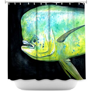 Hulsey Mahi Mahi Fish Single Shower Curtain