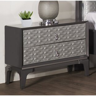 House of Hampton Amelio 2 Drawer Nightstand