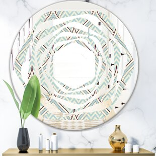 Whirl Ornament with Decorative Elements Modern  Contemporary Frameless Wall Mirror by East Urban Home