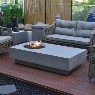 Yahir Concrete Propane Fire Pit Table By Sol 72 Outdoor