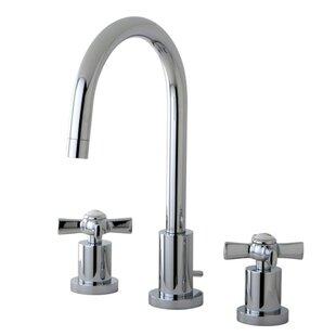 Kingston Brass Millennium Widespread Cross Handle Bathroom Faucet