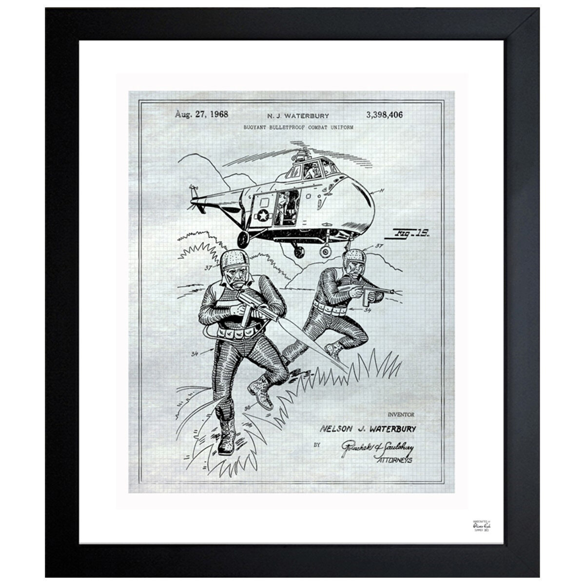 Oliver Gal Buoyant Bulletproof Combat Uniform 1968 2 Wrapped Canvas Graphic Art Print On Canvas Wayfair