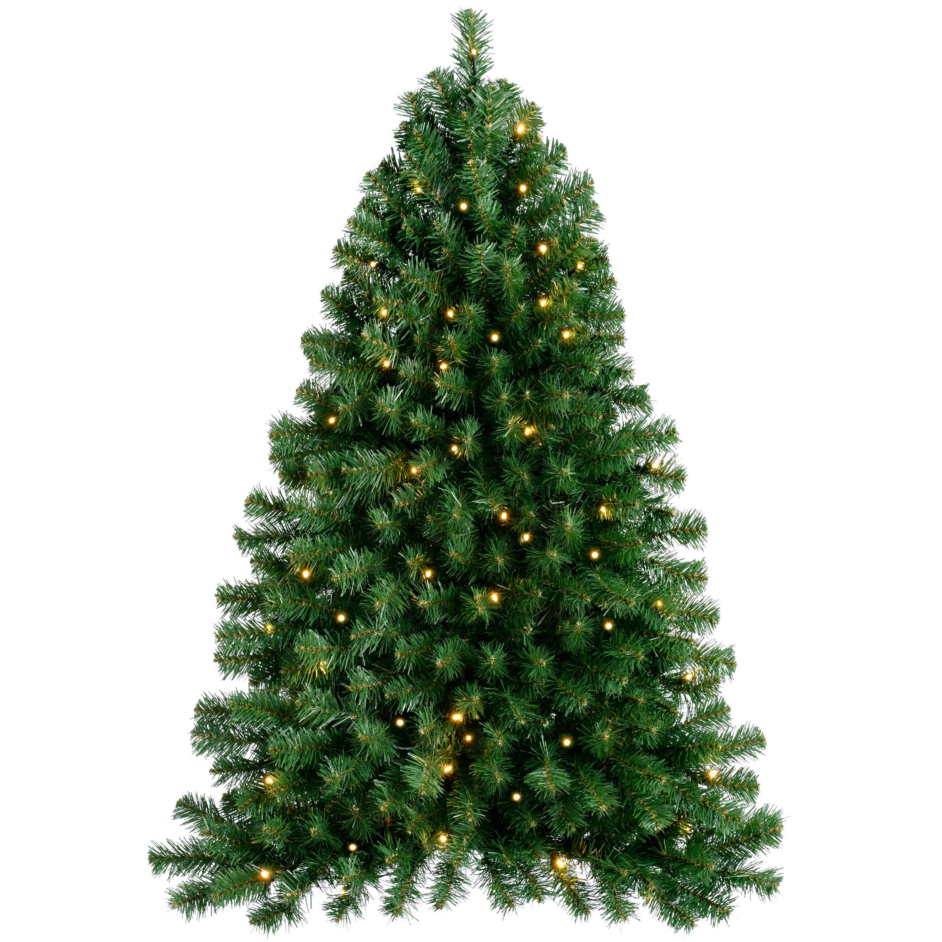 Pre Lit Wall Mounted 3ft Green Pine Artificial Christmas Tree With 50 Led Lights