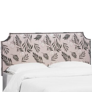 Alasdair Notched Nail Button Debris Floral Upholstered Panel Headboard by Bloomsbury Market