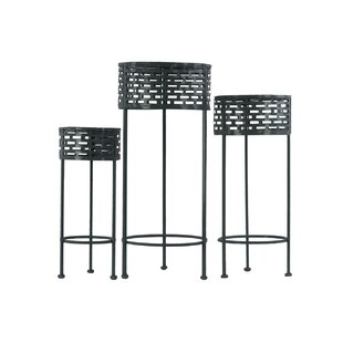 Mahala 3 Piece Nesting Plant Stand Set by Mercer41