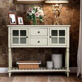 Cato 42 Solid Wood Console Table Sleeper by Longshore Tides