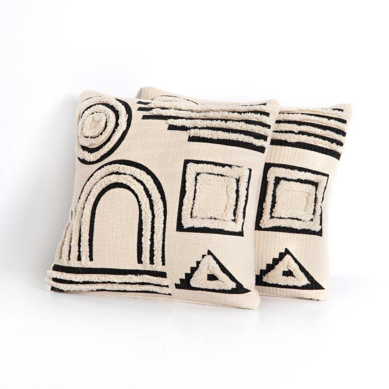 Elamin Cotton Geometric Throw Pillow Allmodern