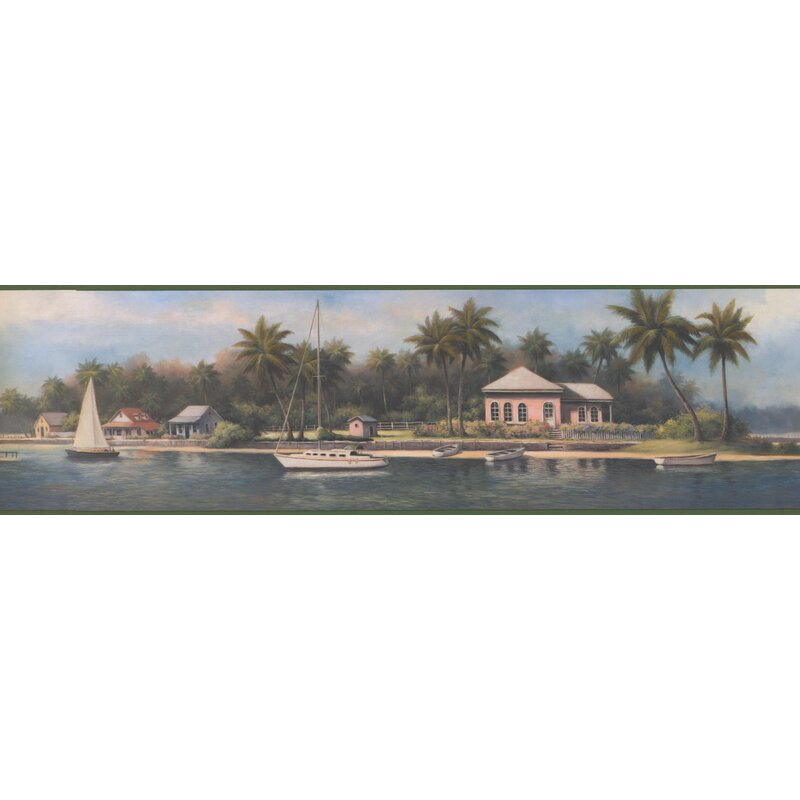 Rum Villa House On River S Sailboats Palm Trees 15 L X 7 W