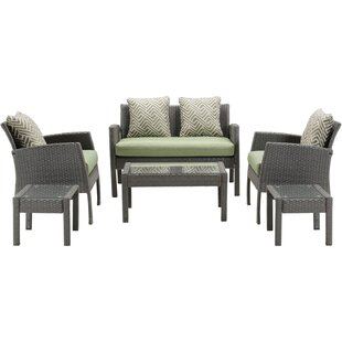 Lewellyn 6 Piece Sofa Set with Cushions
