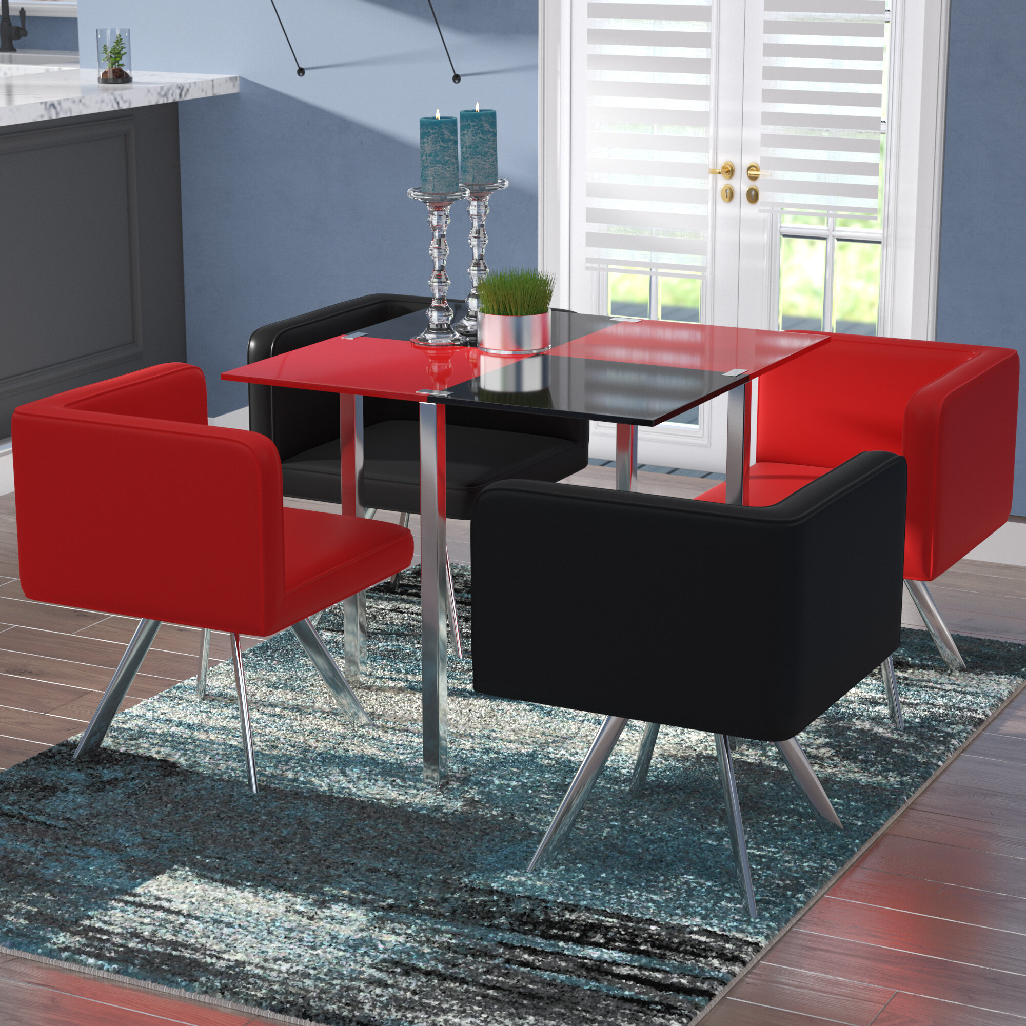 Wade Logan Longwell 5 Piece Dining Set U0026 Reviews | Wayfair