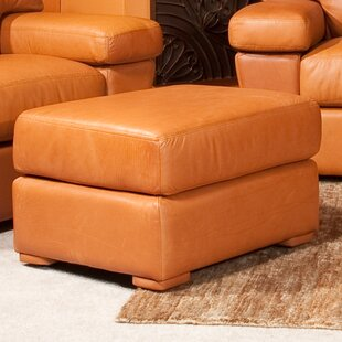 Omnia Leather Prescott Leather Ottoman