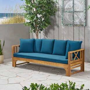 Trevion Extendable Patio Sofa With Cushions By Breakwater Bay