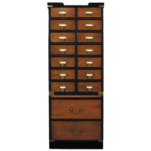 16 Drawers Accent Chest by Authentic Models