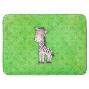 Zebra Watercolor Memory Foam Bath Rug