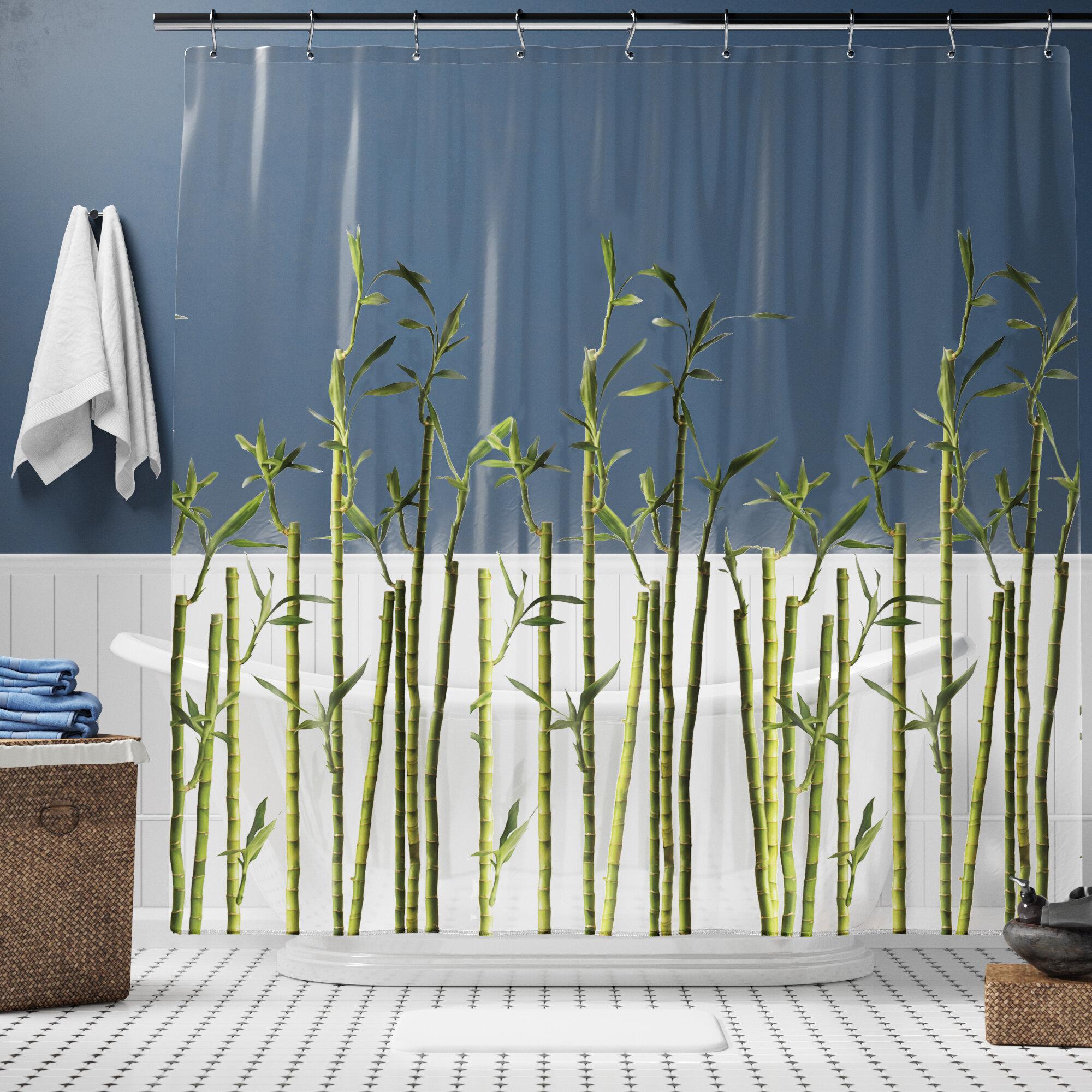 Lippa Photoreal Bamboo Single Shower Curtain
