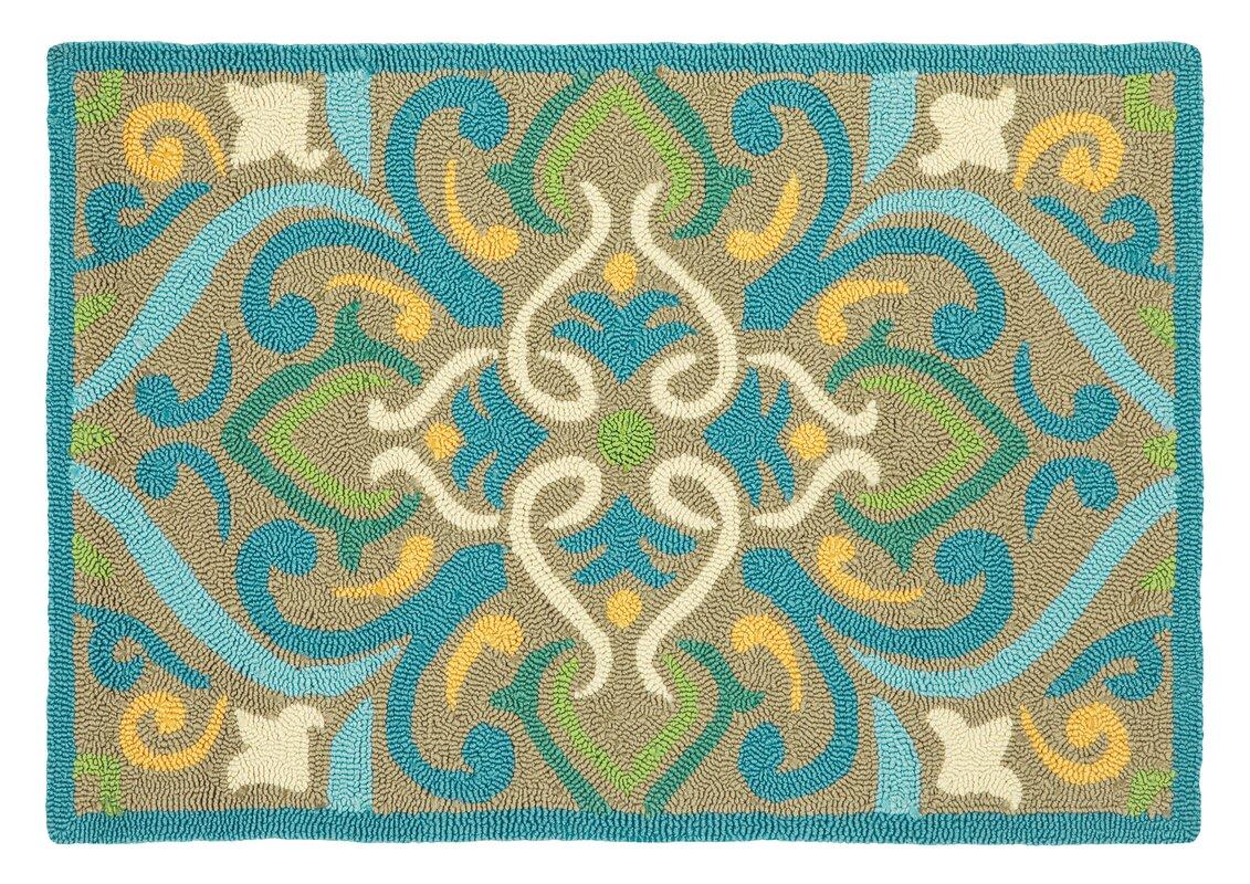 default_name - CompanyC Morocco Aqua Indoor/Outdoor Area Rug & Reviews Wayfair