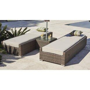 Huerta 3 Piece Chaise Lounge with Cushion