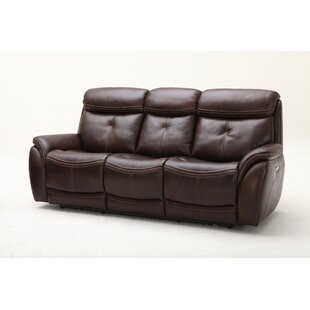 Homerun Leather Reclining Sofa by Southern Motion
